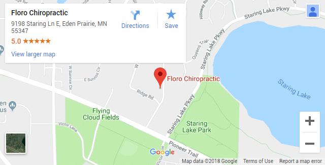 Eden Prairie MN Chiropractic Map
